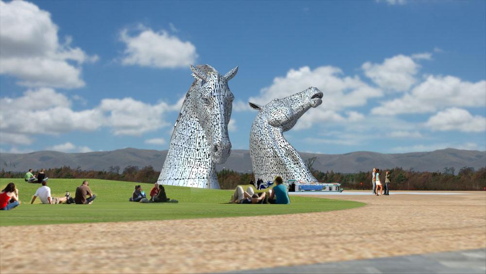The Kelpies, The Largest Equine Sculpture (5 Photos)
