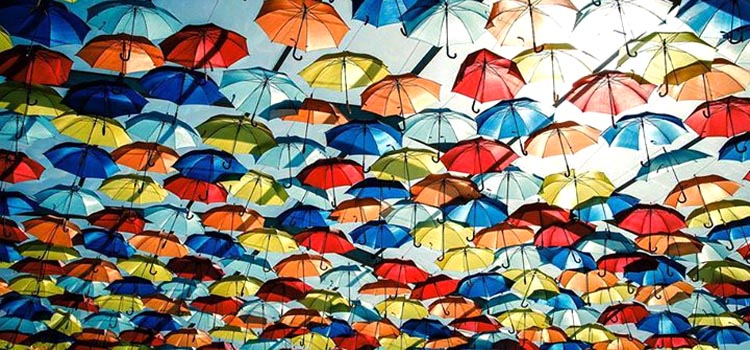 Colorful Floating Umbrellas in Agueda, Portugal (6 Photos)