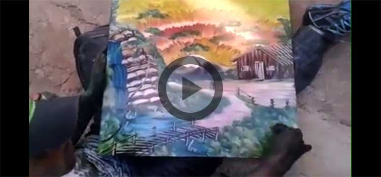 Awesome Art (Painting through Fingers and Hand) – Video