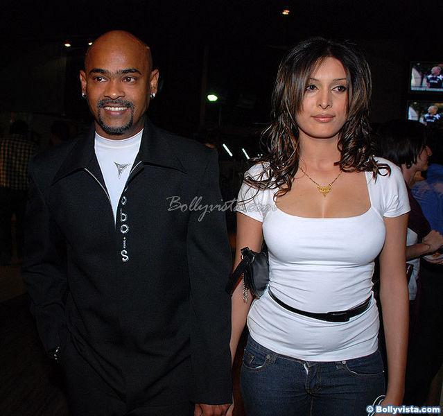 Vinod Kambli and Andrea Hewitt