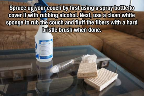16. Make Your Microfiber Couch Look New Again