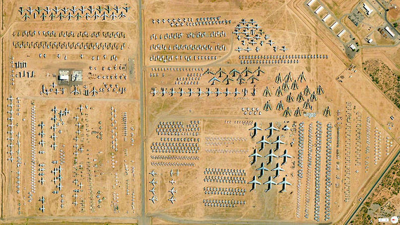 309th Aerospace Maintenance and Regeneration Group Tucson, Arizona, USA Satalite Images