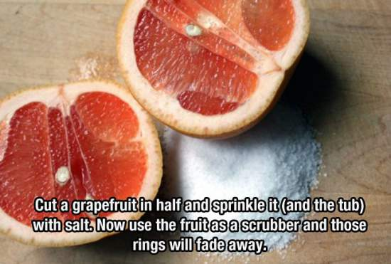 9. Is Your Bathtub Ring Getting On Your Nerves Just Use A Grapefruit