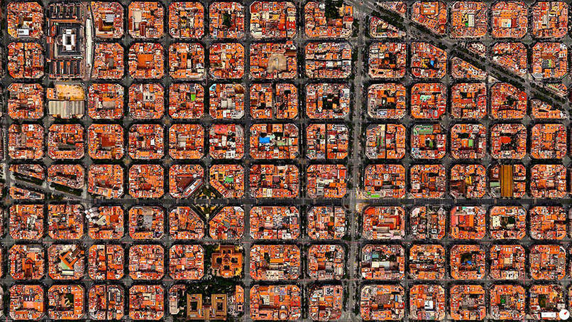 Barcelona, Spain Satalite Images