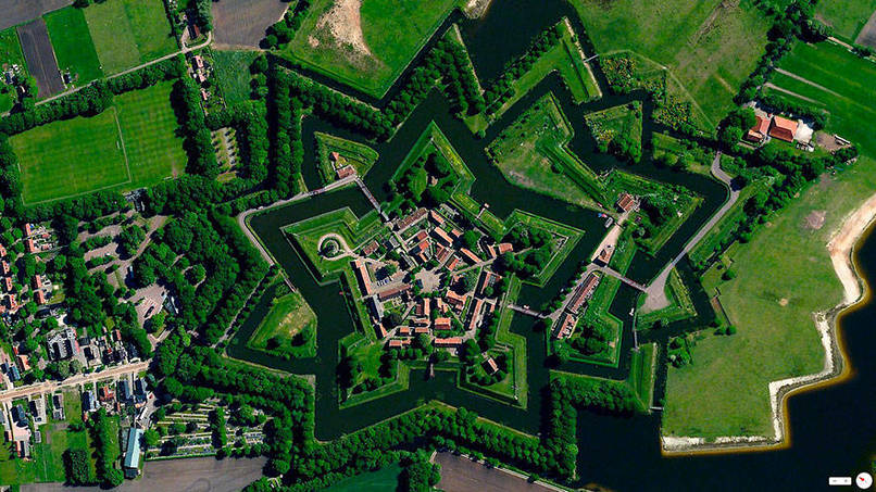 Bourtange, Vlagtwedde, Netherlands Satalite Images