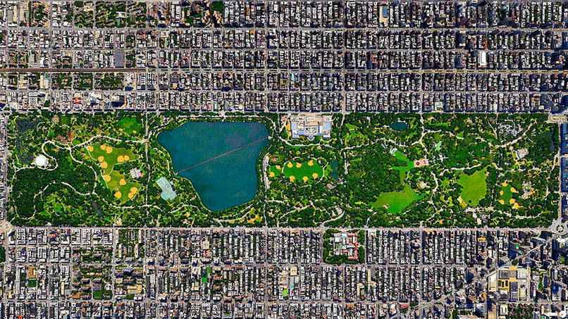 Central Park, New York City, New York, USA Satalite Images