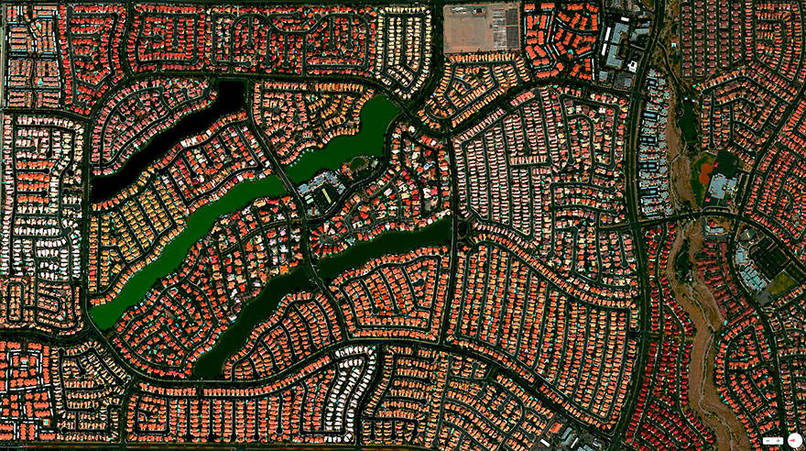 Desert Shores Community, Las Vegas, Nevada, USA Satalite Images