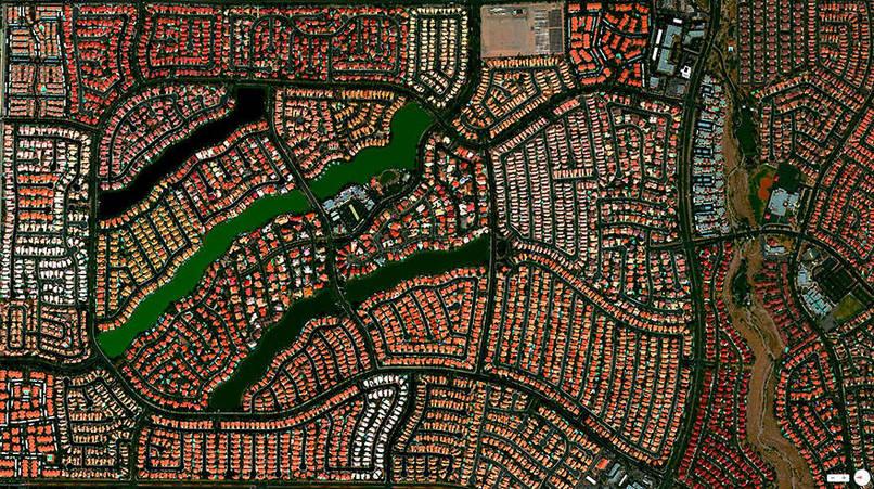 Desert Shores Community, Las Vegas, Nevada, USA Satalite Images