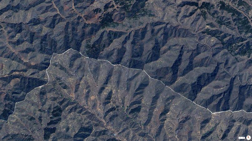 Great Wall of China, Northern China Satalite Images