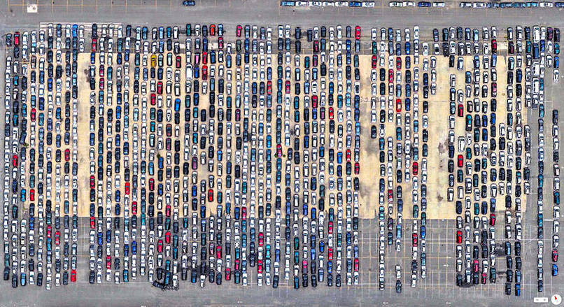 Port Newark-Elizabeth Marine Terminal, Newark, New Jersey, USA Satalite Images