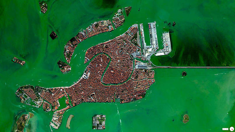 Venice, Italy Satalite Images