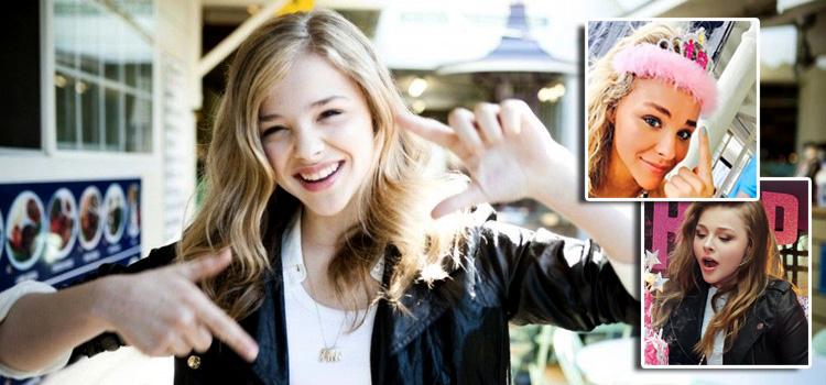 """Chloe Moretz Wears """"TIARA"""" to Celebrate Turning 18"""