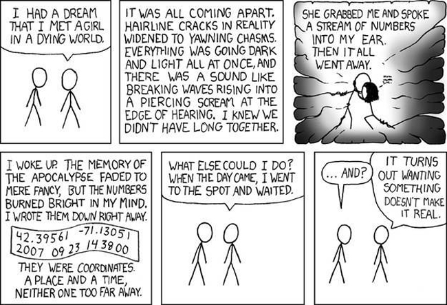 13 The online comic XKCD