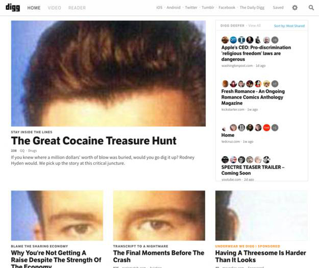 5 Digg has the biggest Rickroll ... Konami Code