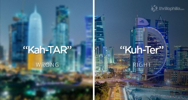 Qatar. Mispronouncing