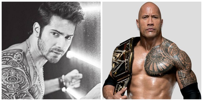 Varun Dhawan & The Rock