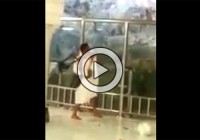 A Person Shattered Protective Glass Around Al-Safa Hill To Climb (Video)