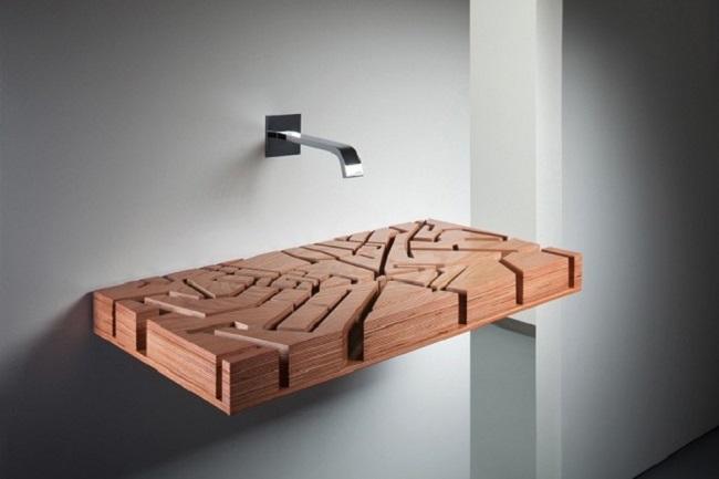 Minimalist Wooden Sink