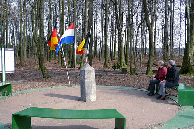 15. Point Where Borders Of Germany, The Netherlands And Belgium Converge Near City Of Aachen