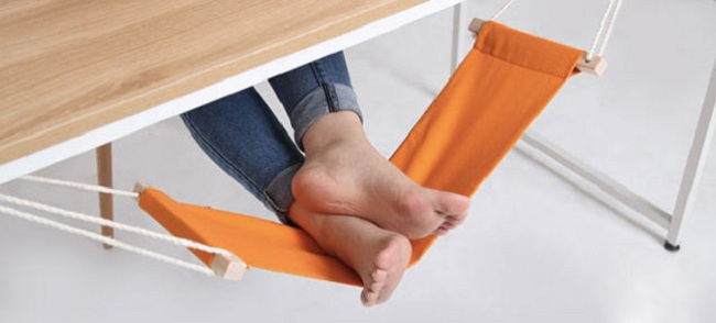 17. Under-Desk Foot Hammock