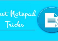 Best Notepad Tricks Probably You Never Heard of