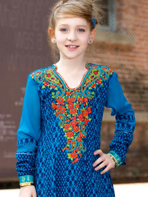 Children Eid Dresses 2015 (10)