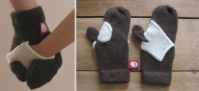 10. Forget-Me-Not Mittens.