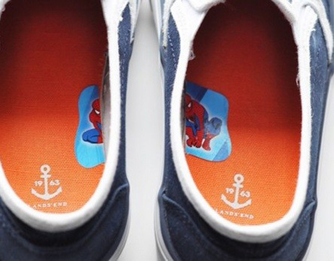 14. Sticker clues for shoes.