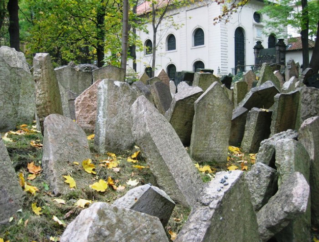 8. Prague's Old Jewish Cemetery