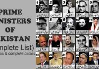Prime Ministers of Pakistan (Complete List)