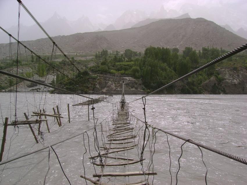 1. Hussaini Hanging Bridge