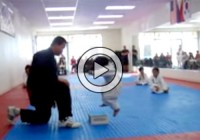 Little Boy Trying To Break Board In Taekwondo And It's Incredibly Cute (Video)