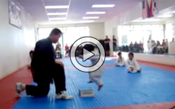Little Boy Trying To Break Board In Taekwondo And It's Incredibly Cute (Video)