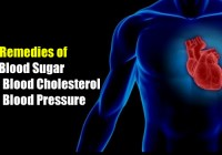 Home Remedies of Low Blood Sugar, High Blood Cholesterol and High Blood Pressure