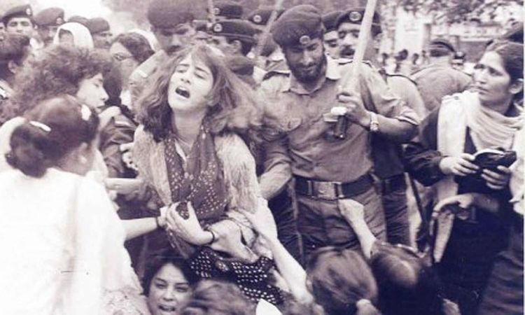 019Women protesting against the Zia dictatorship being baton-charged_InfoMazza