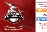 Asrar – Lahore Qalandars Anthem (PSL) (Listen / MP3 Download)