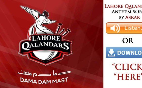 Asrar – Lahore Qalandars Anthem (PSL) (Listen / MP3 Download)