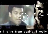 Beautiful Motivational Speech by Muhammad Ali – Video