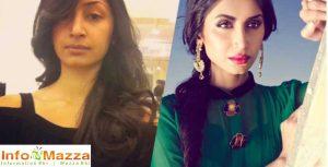 Hira With & Without Makeup