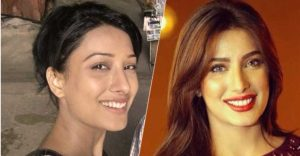 Mehwish Hayat With & Without Makeup
