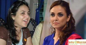 Nadia Khan With & Without Makeup
