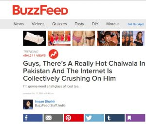 Chai wala on buzz feed