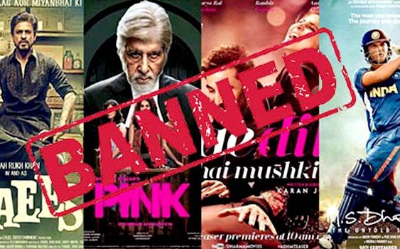 Indian Movies Banned in Pakistani Cinemas
