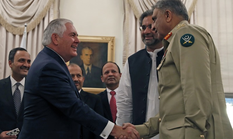 Tillerson in Pakistan with an intense message on 'safe havens'